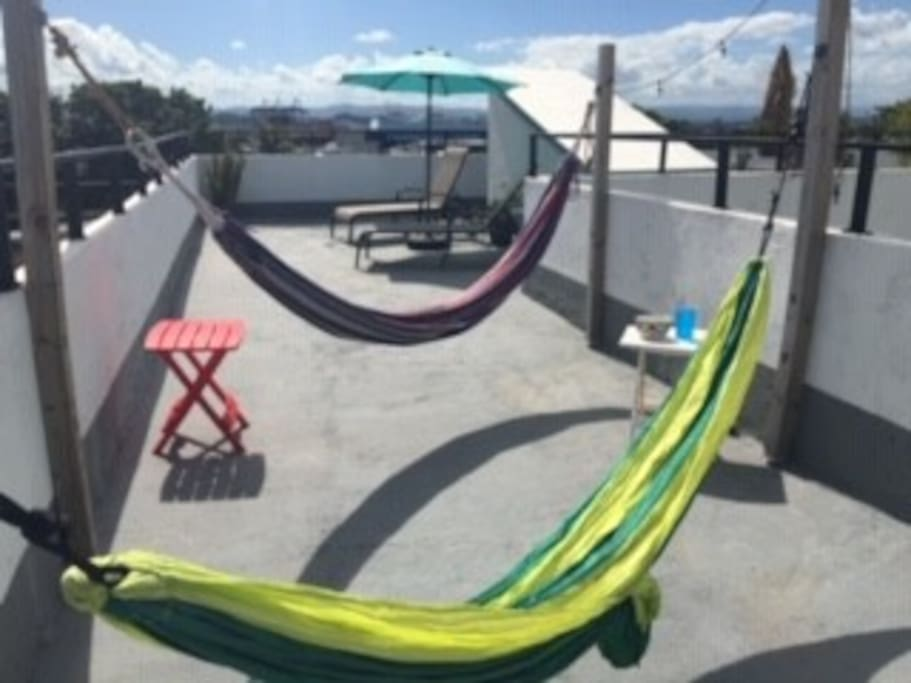 Relax and enjoy the sun and breeze in our hammocks. Some of our guests have even slept overnight outside in the hammocks to enjoy the wind and stars!