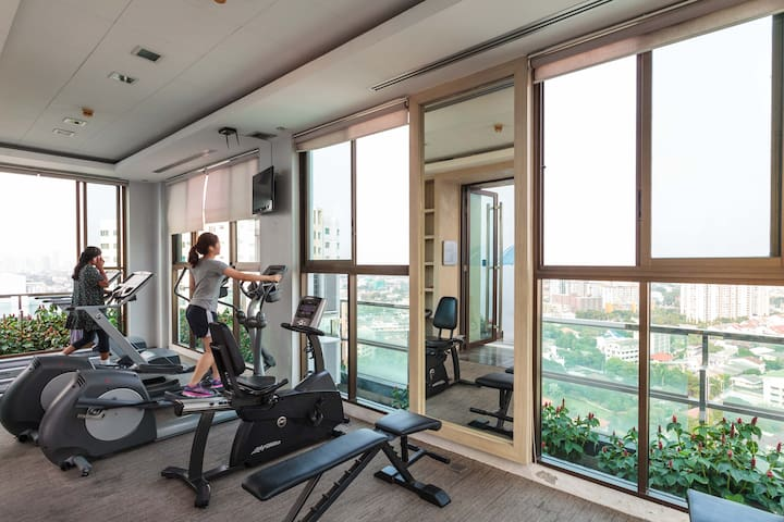 Fitness gym accessible for all guests