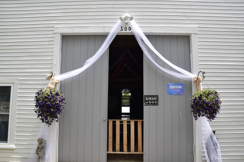 This is your private entrance to the barn.