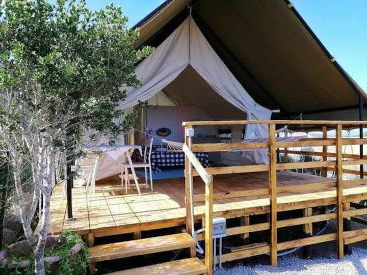 Tenda Safari Lodge, lussuosa e confortevole romantica per due...
