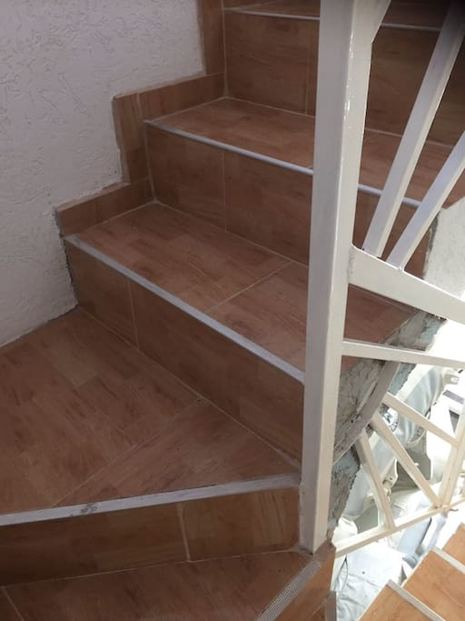 Staircase up to your apartment! Apartment #1