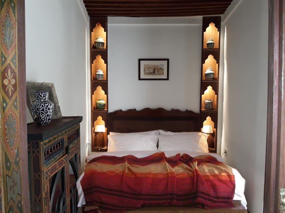 """The """"Sardanapalus"""" bedroom is on the first floor, with an en suite bathroom and a balcony"""