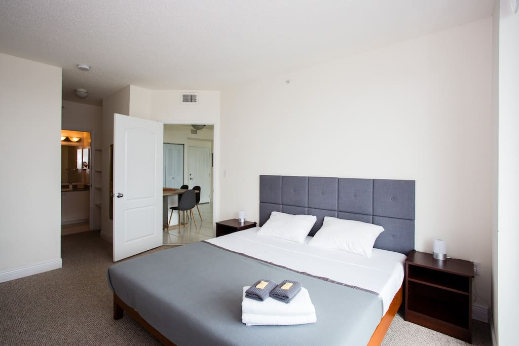 Master Bedroom with King size Bed and Comfortable Mattress for a good night sleep