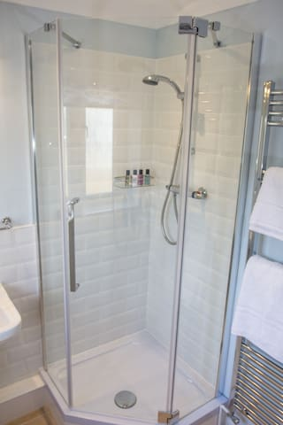 Shower with one step up