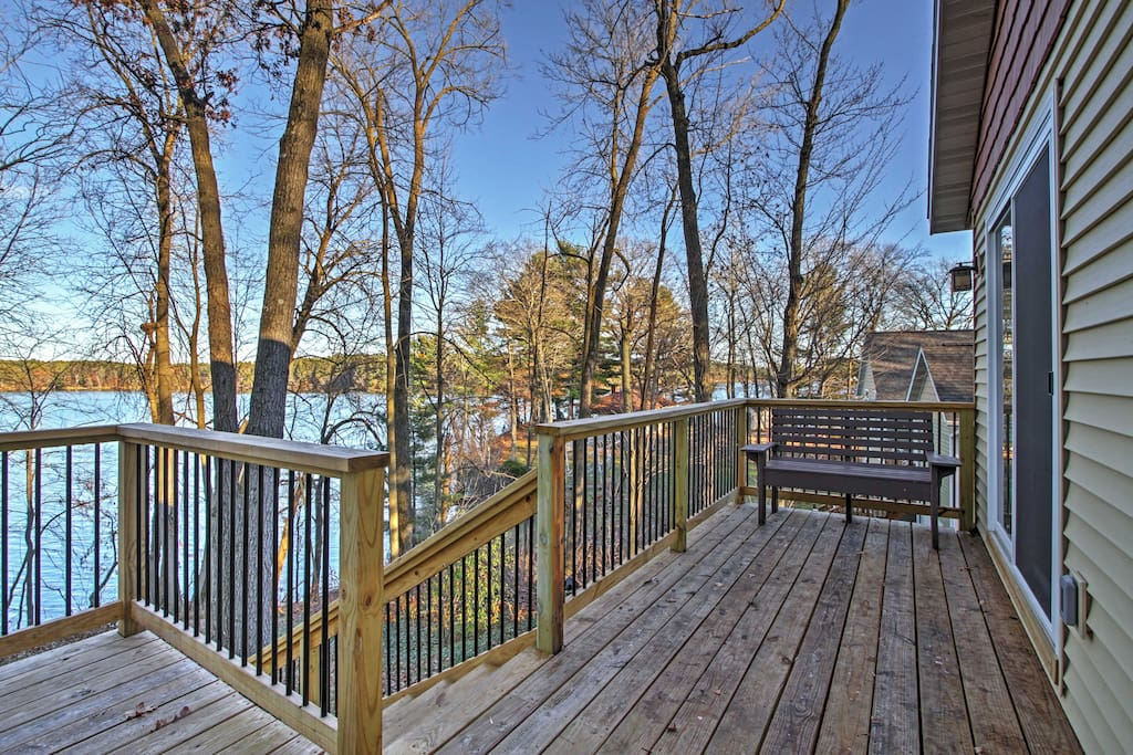 Take in all of the natural beauty surrounding this cozy home from the comforts of your own private deck.