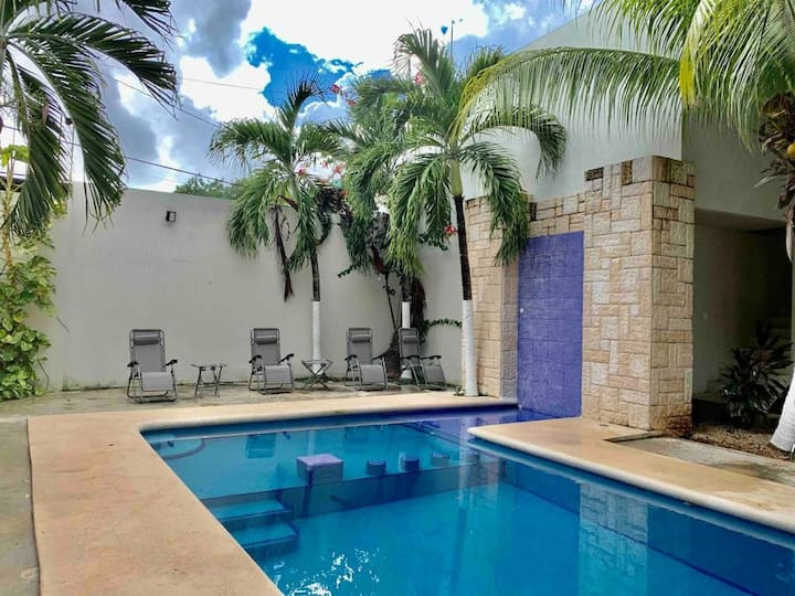Habitación Priv. ideal para descansar con Alberca