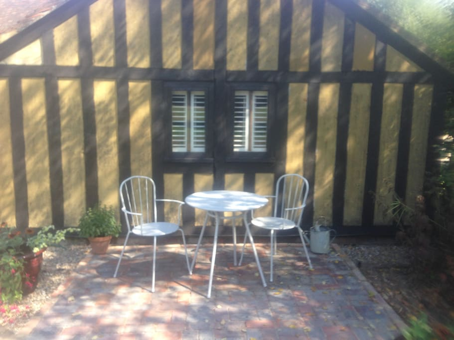Sit in the morning shade with coffee or the sunshine all afternoon.