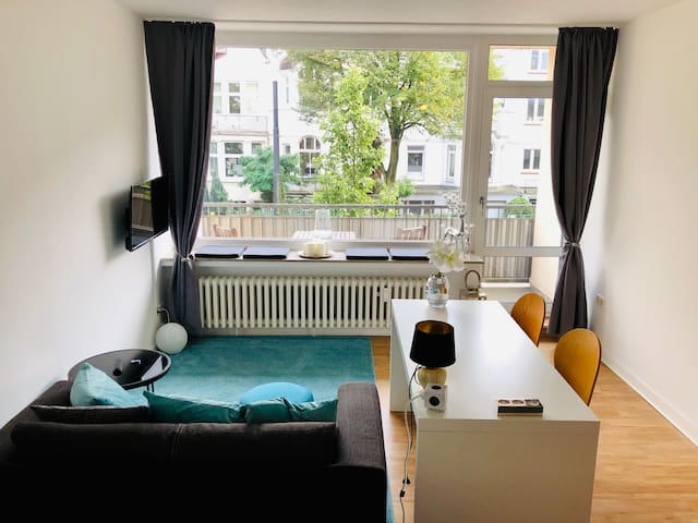 Business Apartment 35qm, Balkon, WLAN, Bürgerpark