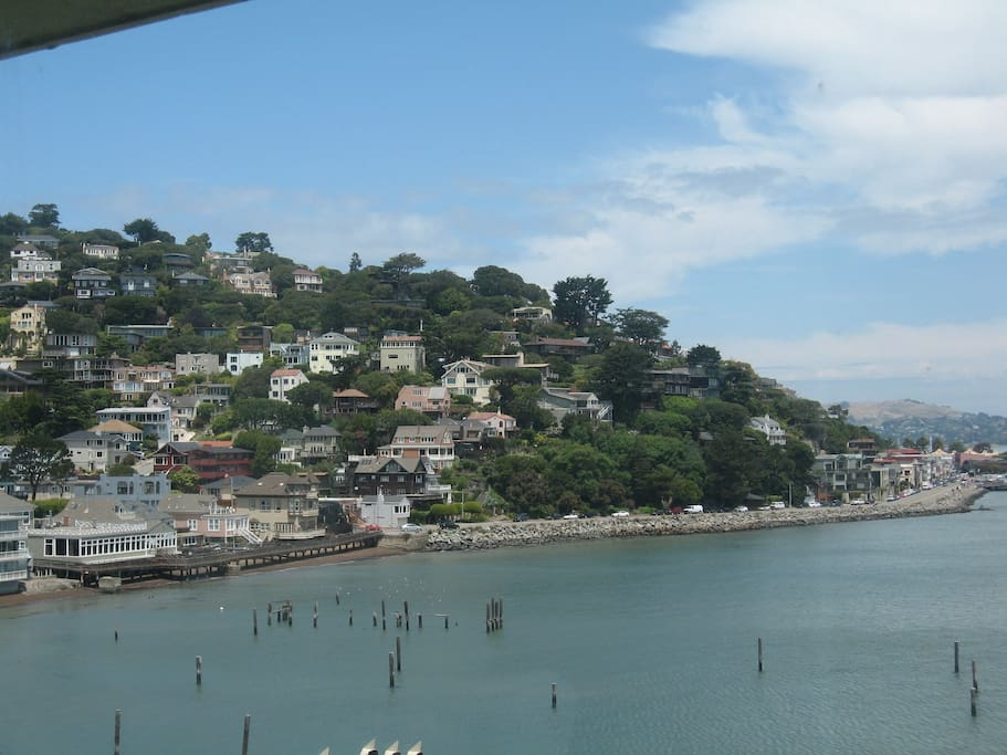 Sausalito  hills  from  the  deck