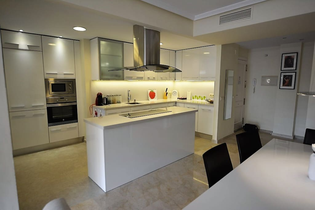 Fully fitted open kitchen