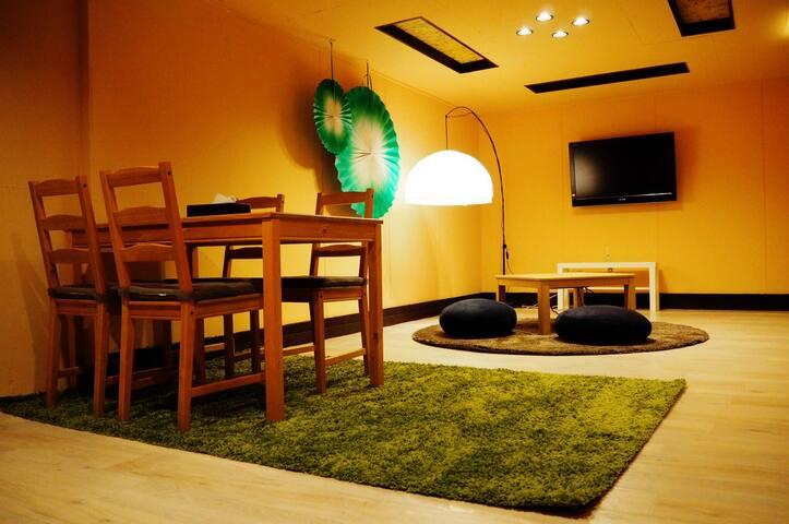 難波Namba1.5min(150m公尺)、安可Ankoアンコール I 雙人*4 Twin*4 - Osaka - Apartamento