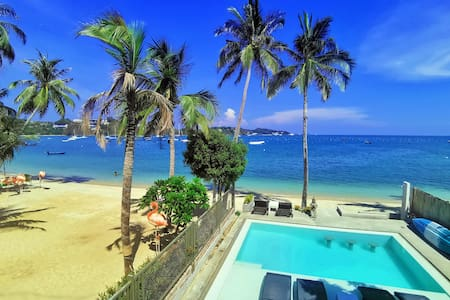 ★Beachfront Apt in Private Villa w/ Infinity Pool★