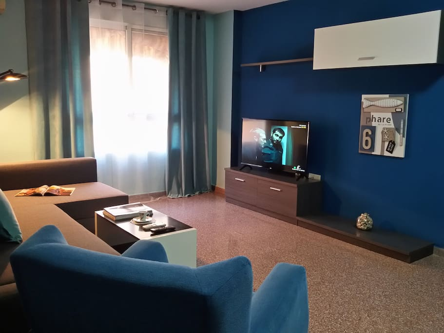 The Sea Living Room with  double bed sofa (1)