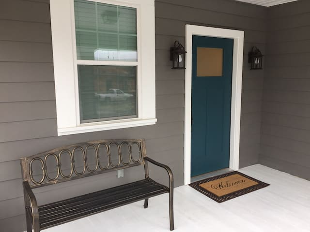 Relax on the large front porch