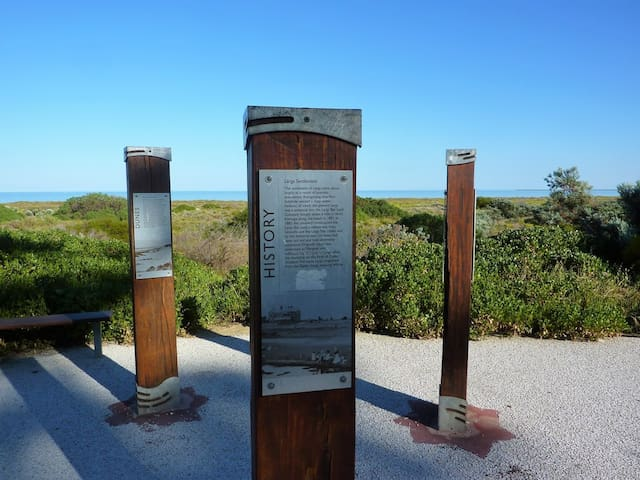 Historic markers along Coastal Park