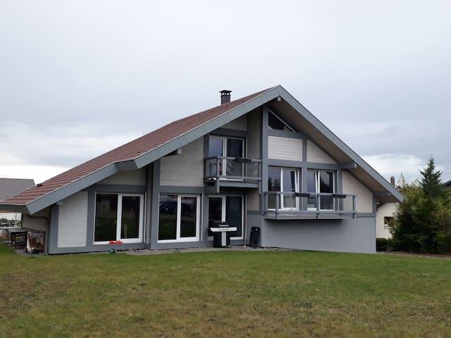 maison ossature bois pour famille