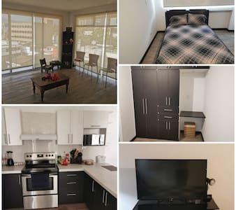 habitacion en penthouse de tamaño de apartamento.