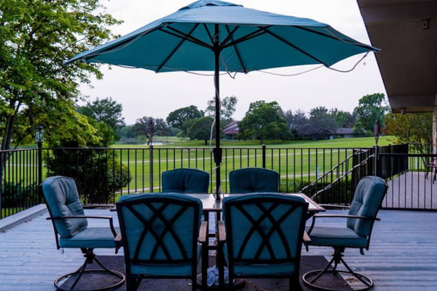 Enjoy a relaxing cup of coffee on the deck while watching the golfers or the deer.