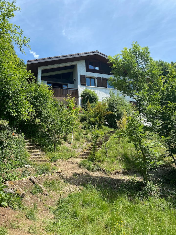 Family house nearby Annecy lake with great view