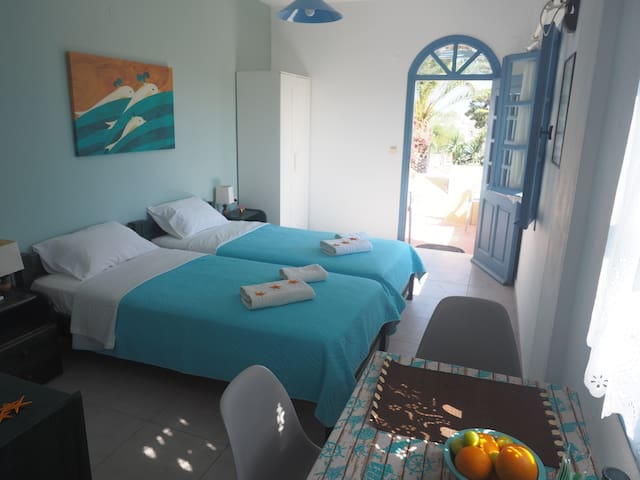 'Asterias 1' room on the beach!
