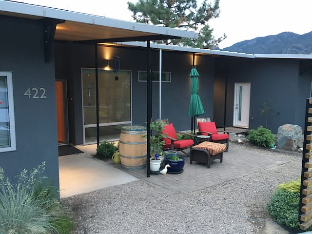 White door is the separate entrance to Skaha Vista room