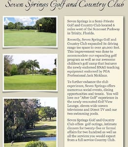 Golf Course Community Villa in a great location! - New Port Richey