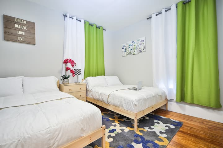 ✪2Doublebeds 4m to Downtown walk to subway freepk✪