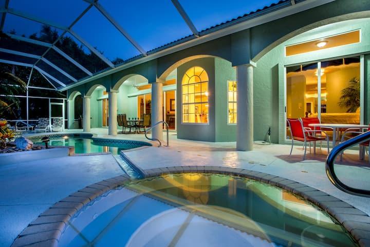 Villa Charlene - Beautiful pool and spa villa w/ amazing views of Cat Cay Lake!