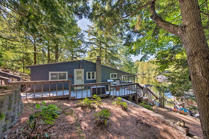 Waterfront Weare Cottage w/ Fire Pit & Kayaks