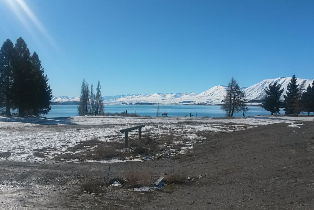 In August at nearby Lake Tekapo.