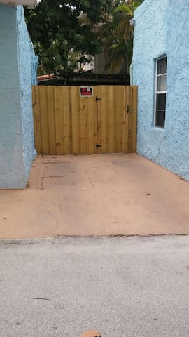 Private free! parking spot. Directly beside your front door.