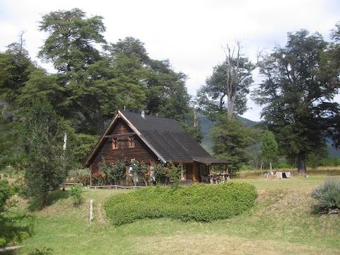 Cabaña Las Bandurrias, río Manso inferior