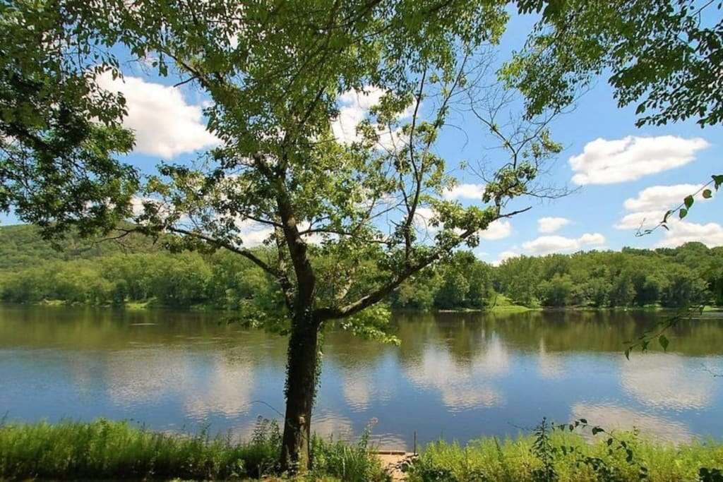 Full access of the Delaware river for fishing or swimming. Ask about us about our Kayak package!