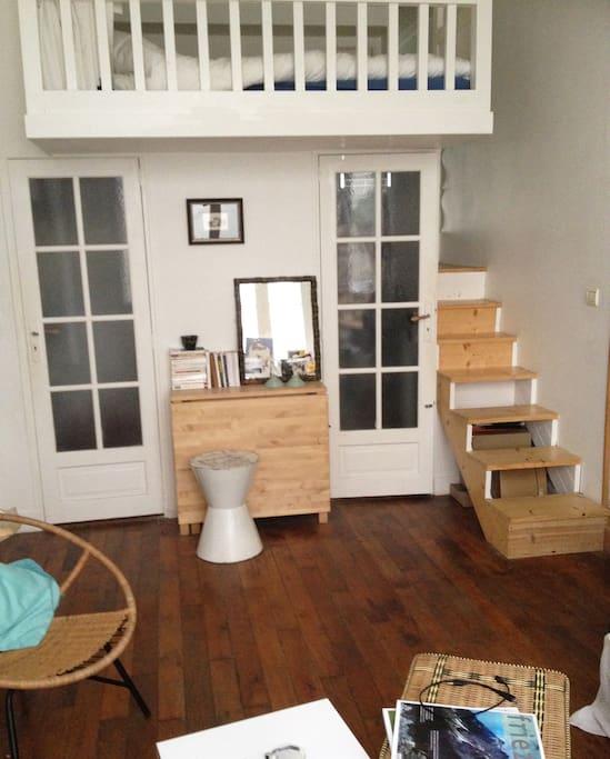 living room + mezzanine