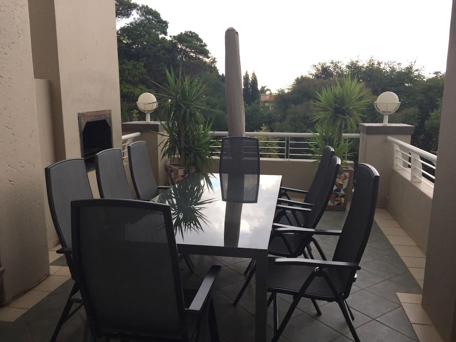Balcony with braai facility
