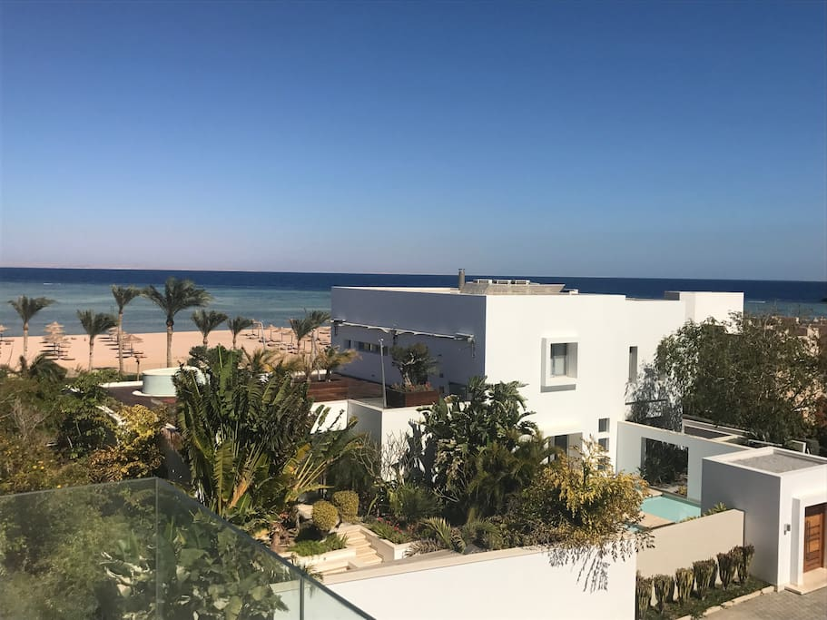 The view from the roof terrace