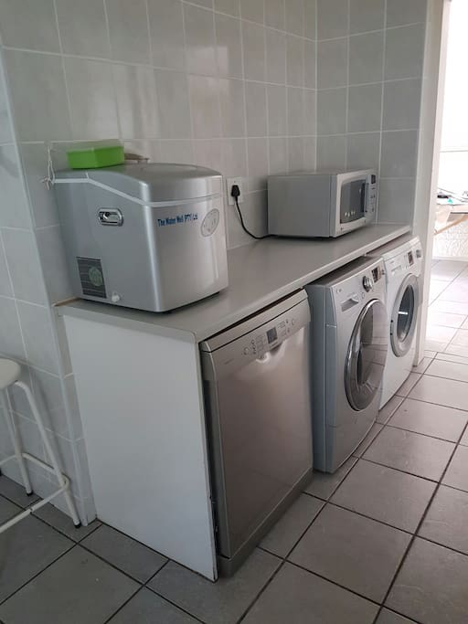 Dishwasher, washing machine . This makes life so much more livable.