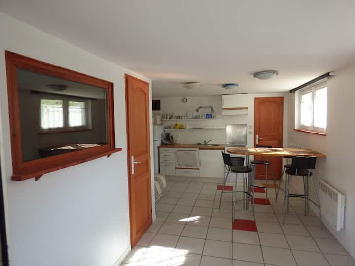 Studio indépendant 35m² avec terrasse/jardin