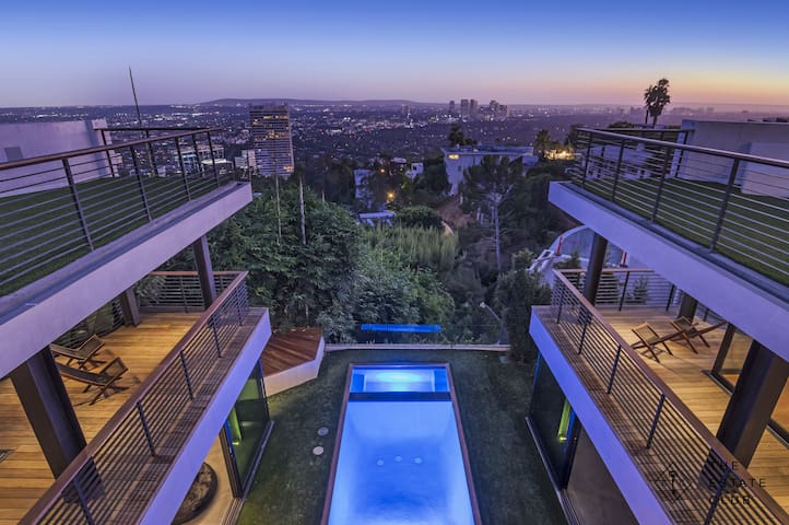 Incredible Architectural Hollywood Hills Estate