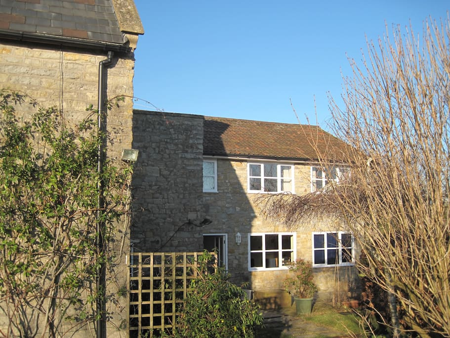 The adjoining two bed modern part of the farmhouse