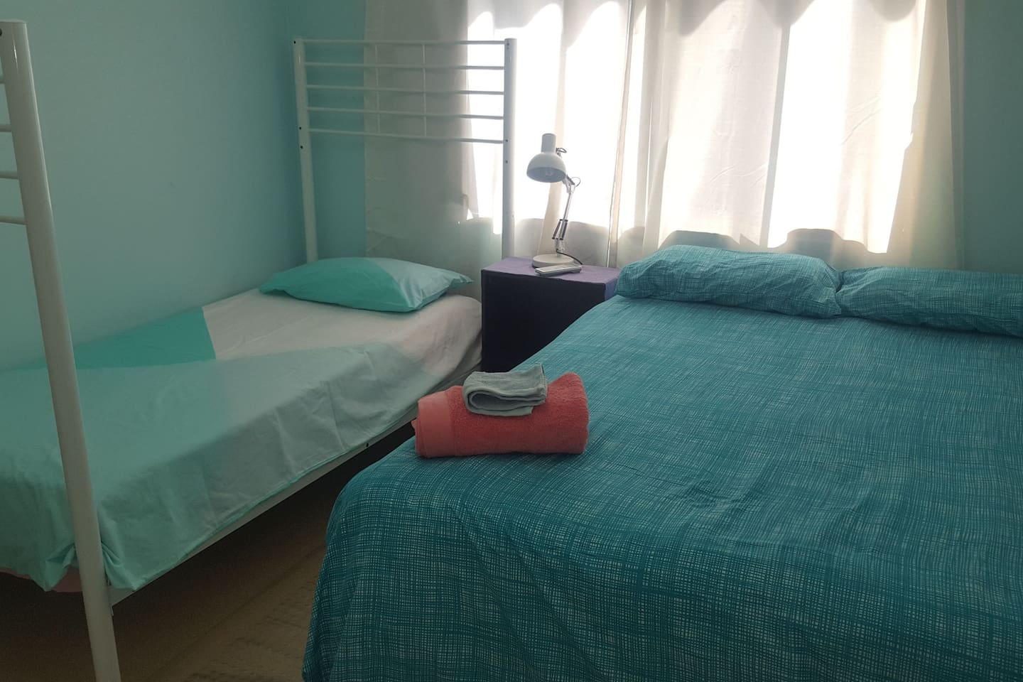 DOUBLE AND SINGLE BED