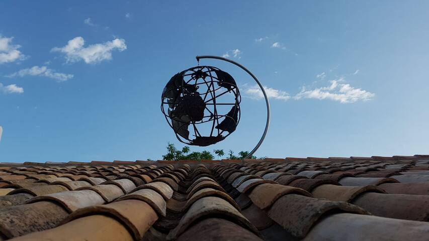 'House of The World' sculpture by owner Mondo.
