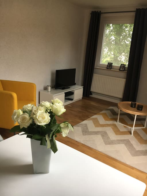 Modern eingerichtete wohnung mit 2 schlafzimmern for Eingerichtete wohnzimmer modern