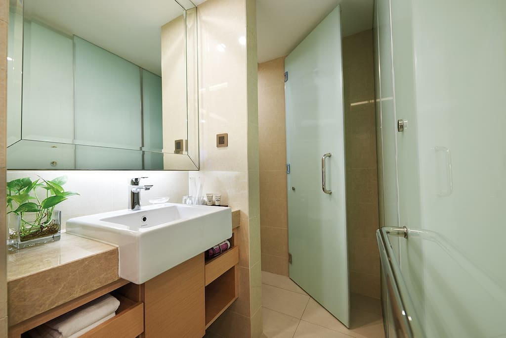 Private bathroom and toilet room