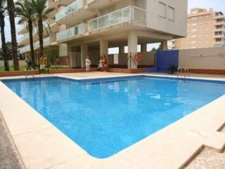 Apartment with 3 bedrooms in Guardamar del Segura, with wonderful sea view, private pool, enclosed garden - 4 km from the beach