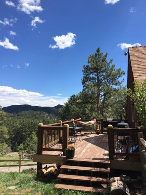 Your own deck w/ hammock, grill, and table