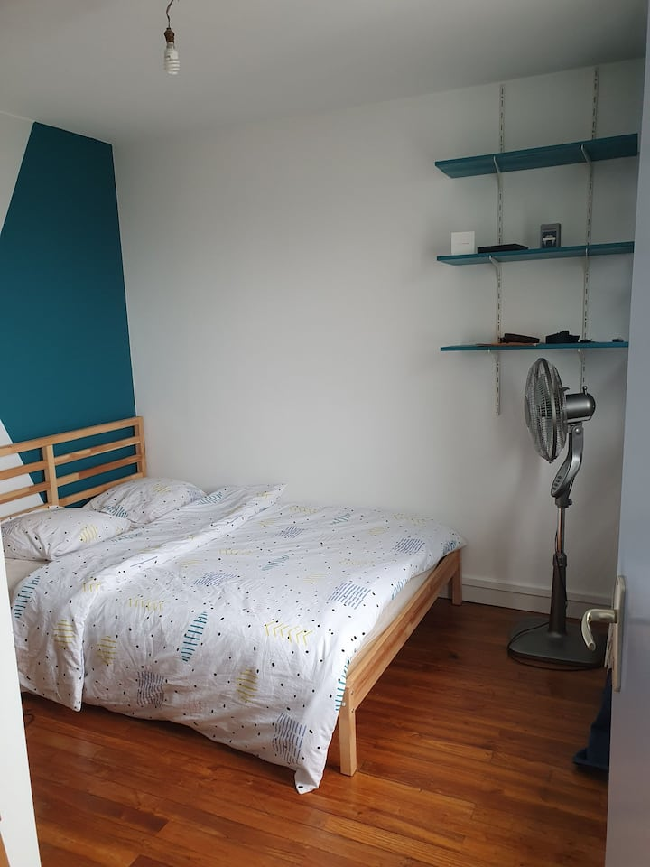 Chambre privée appartement chaleureux