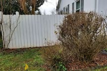 Dog lot attached to house