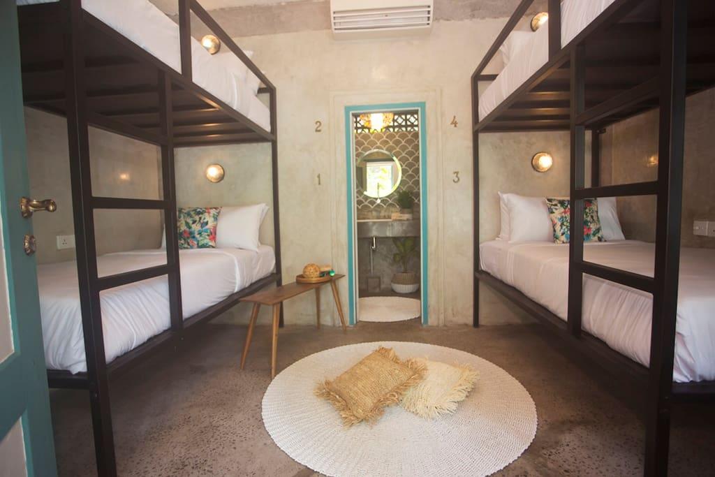 4 comfort beds