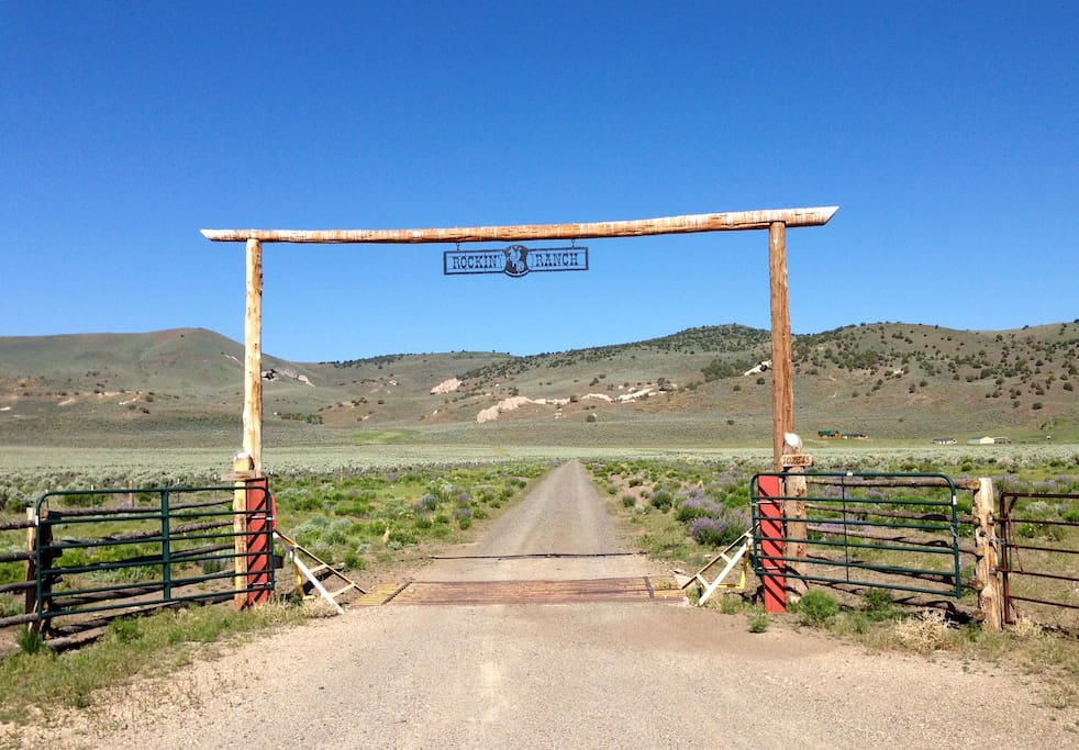 The Rockin' TD Ranch front gate